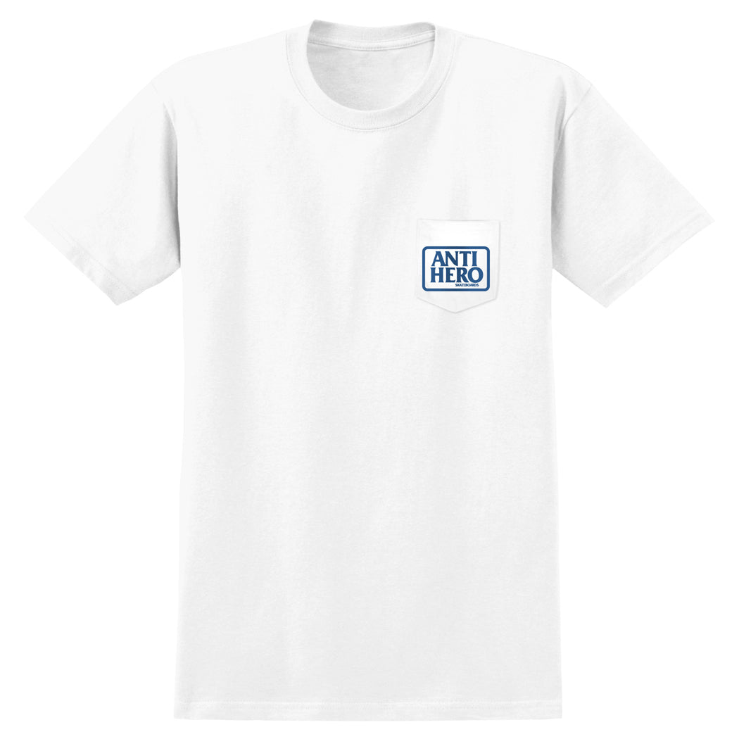 Anti Hero Reserve Pocket Tee White/Blue