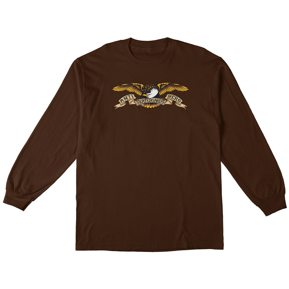 Anti Hero Eagle Long Sleeve Tee Dark Chocolate