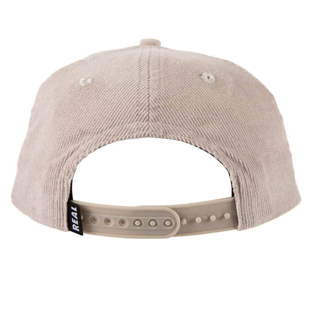 Real Lower Case Snapback Light Grey/Red