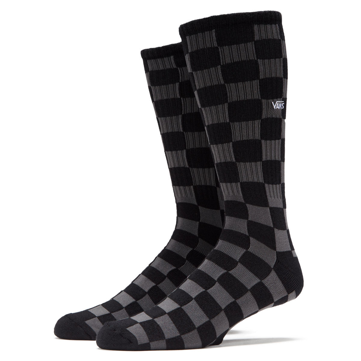 Vans Classic Crew Socks Charcoal Checkerboard
