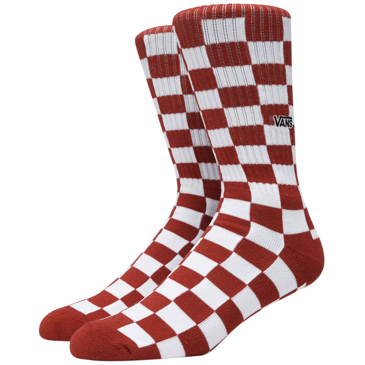 Vans Checkerboard Crew Sock Red/White