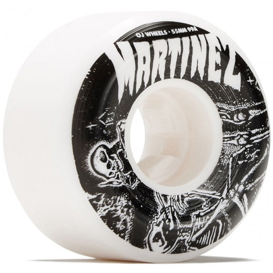 OJ Wheels Martinez Smoke Bros Elite Hardline 99A White 55mm