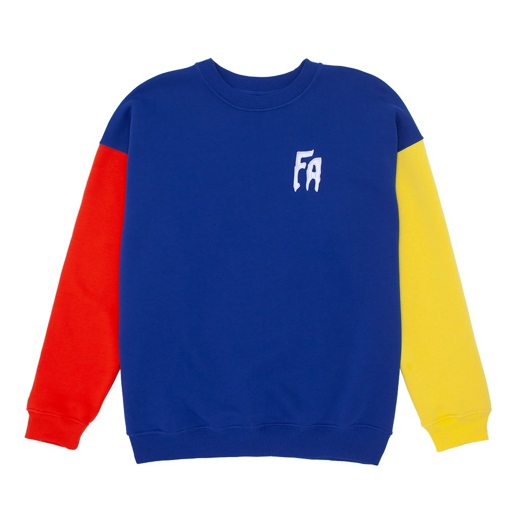 Fucking Awesome Primary Crewneck Red/Navy/Yellow