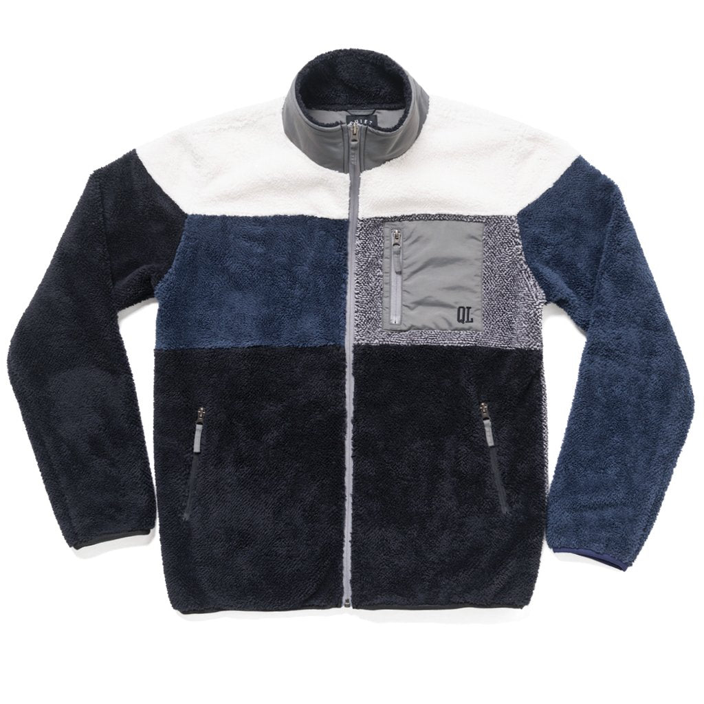 Quiet Life Block Polar Fleece Jacket Black/Navy