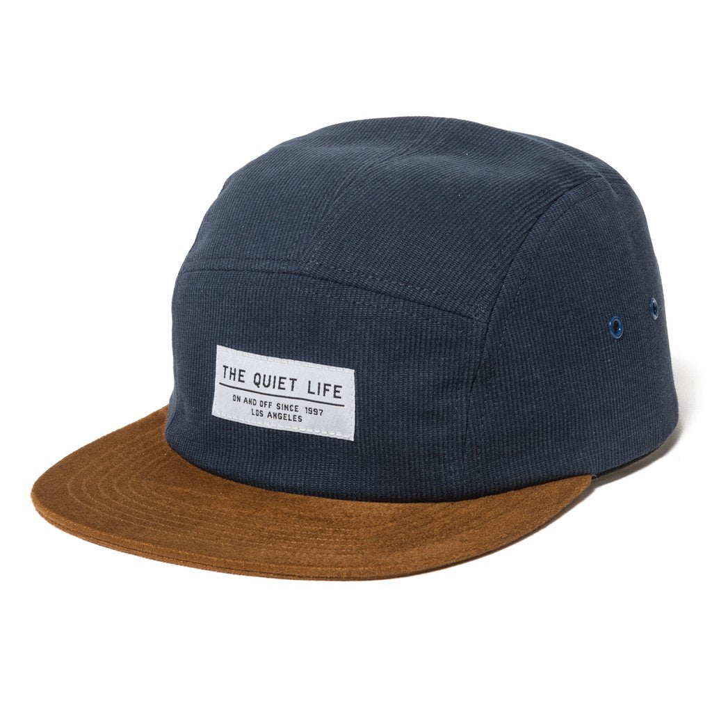 Quiet Life Cord Combo 5 Panel Camper Hat Blue
