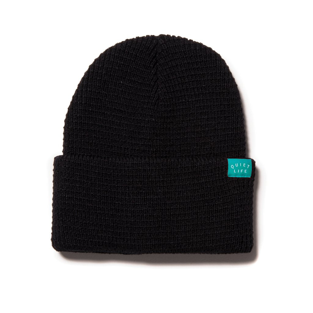 Quiet Life Waffle Beanie Black