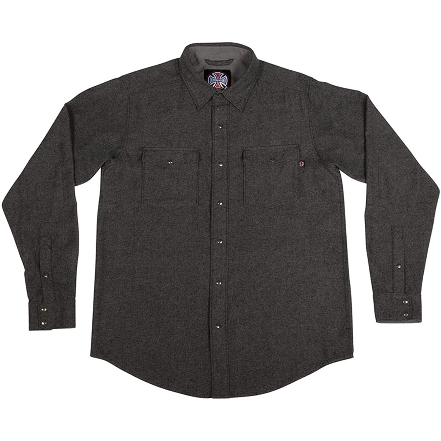 Independent Mill Long Sleeve Button Up Charcoal Heather