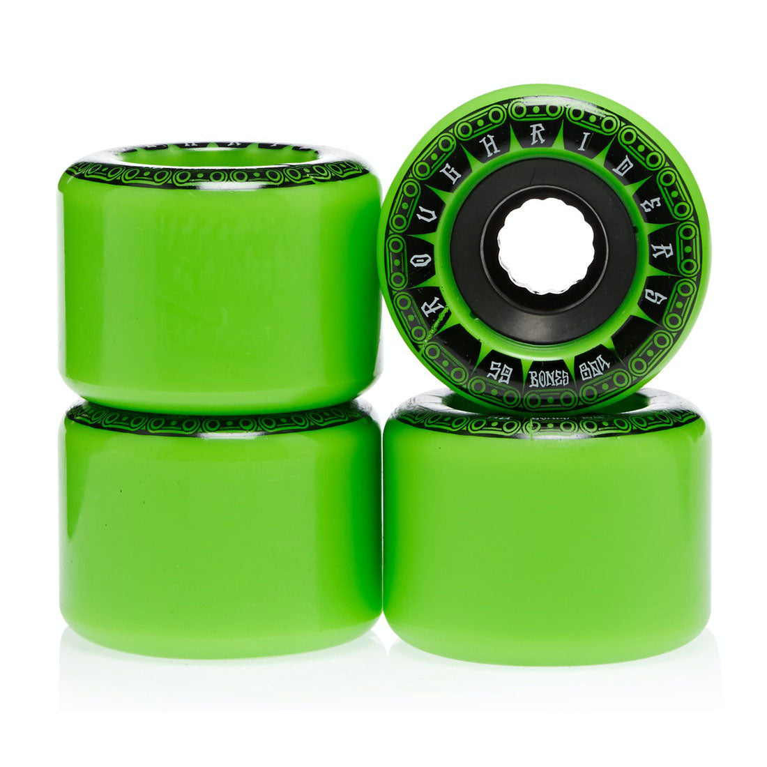 Bones Wheels Rough Riders Tank 59mm Green ATF