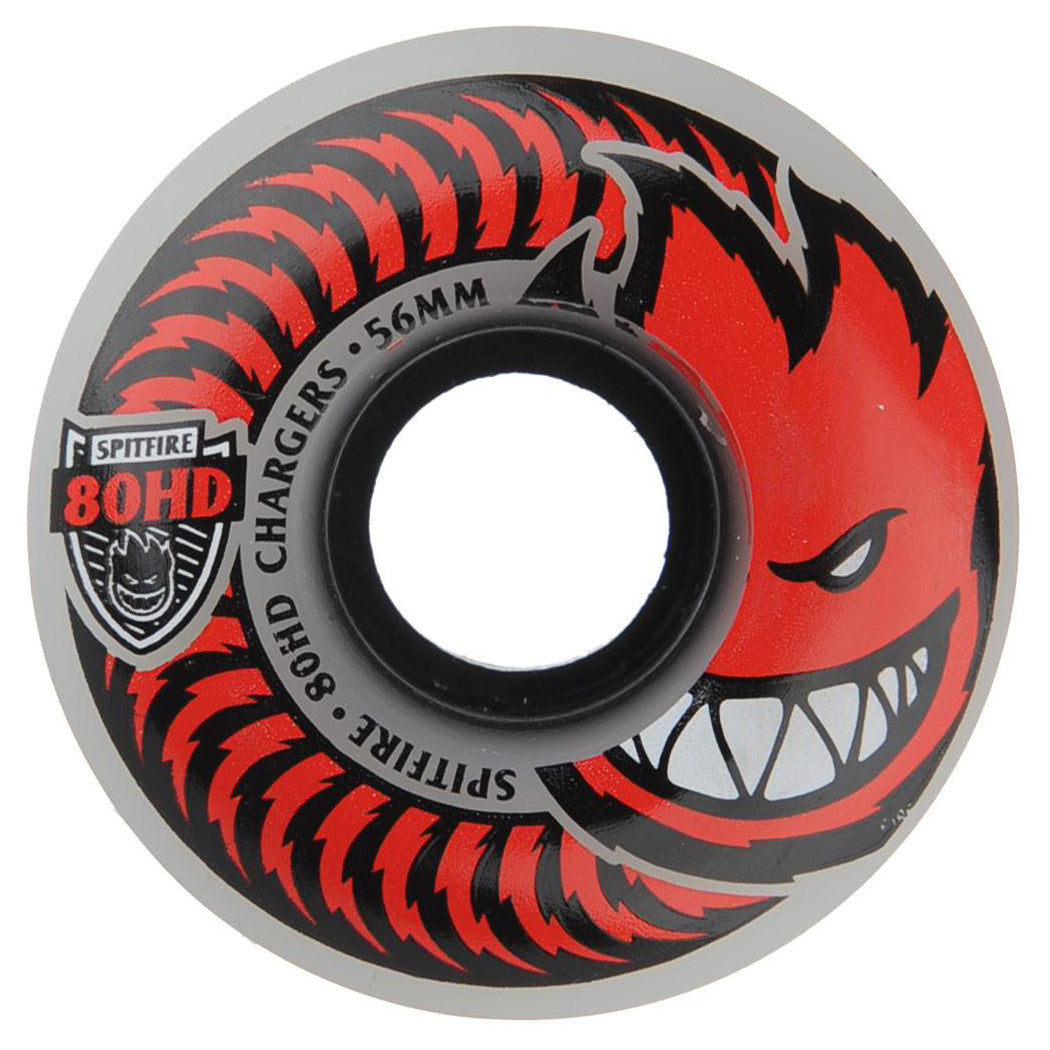 Spitfire Wheels 80HD Charger Classic Clear 56mm