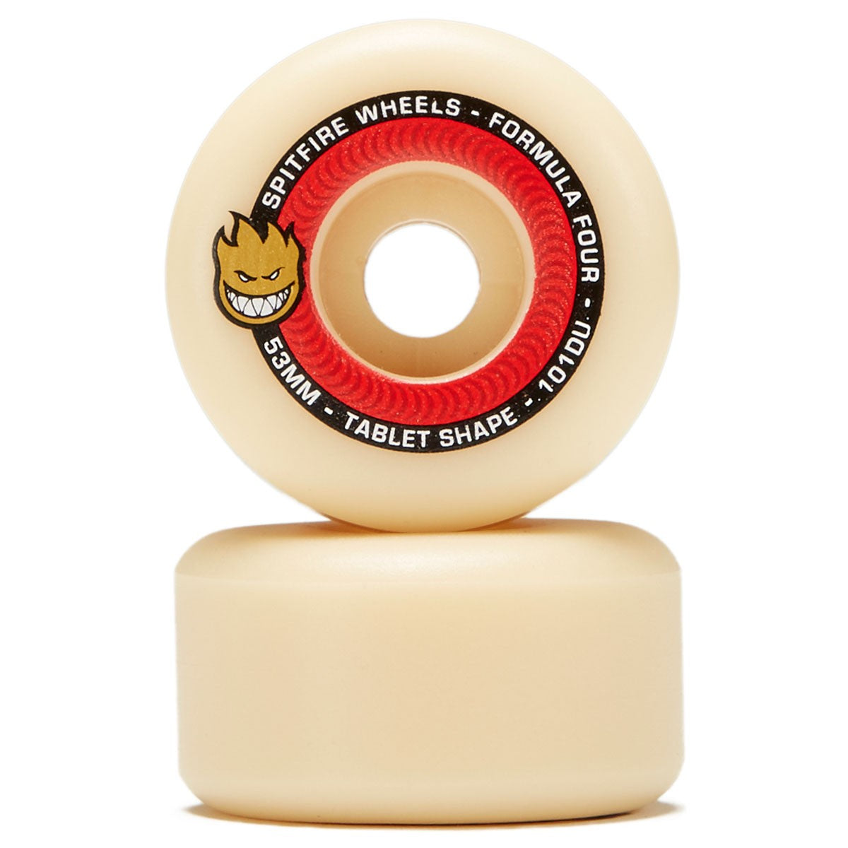 Spitfire Wheels Formula Four F4 Tablets Natural 101D 53mm