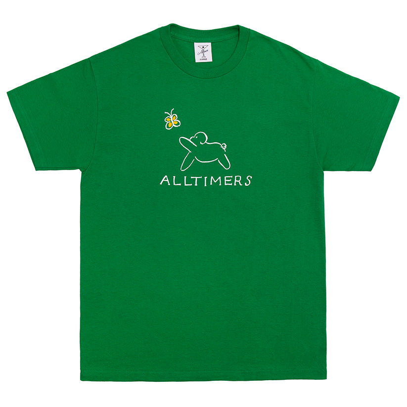 Alltimers Claire Pup Tee Kelly Green