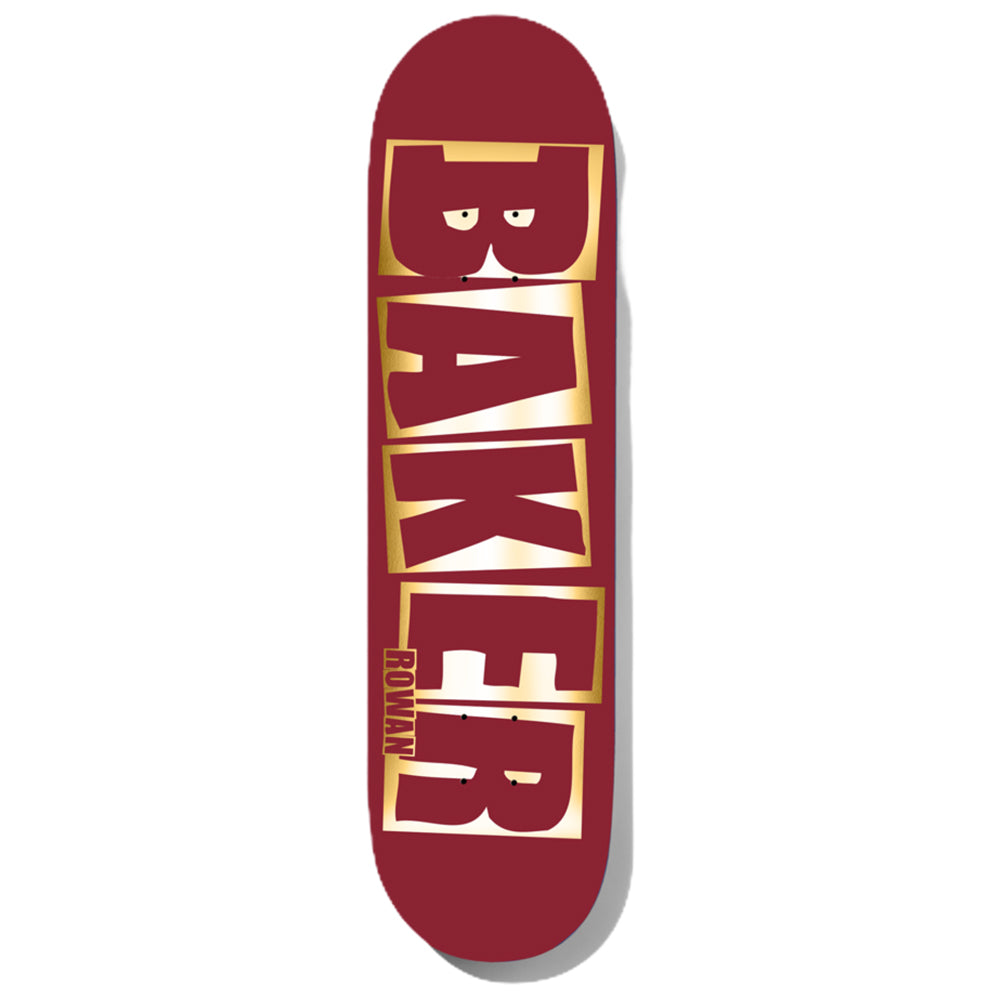 Baker Rowan Brand Name Red/Foil B2 Deck 8.38""