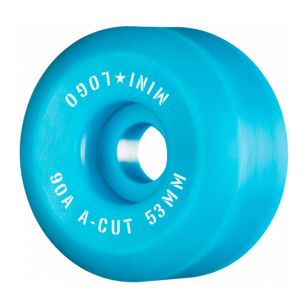 Mini Logo Wheels A-Cut 90A Blue 53mm