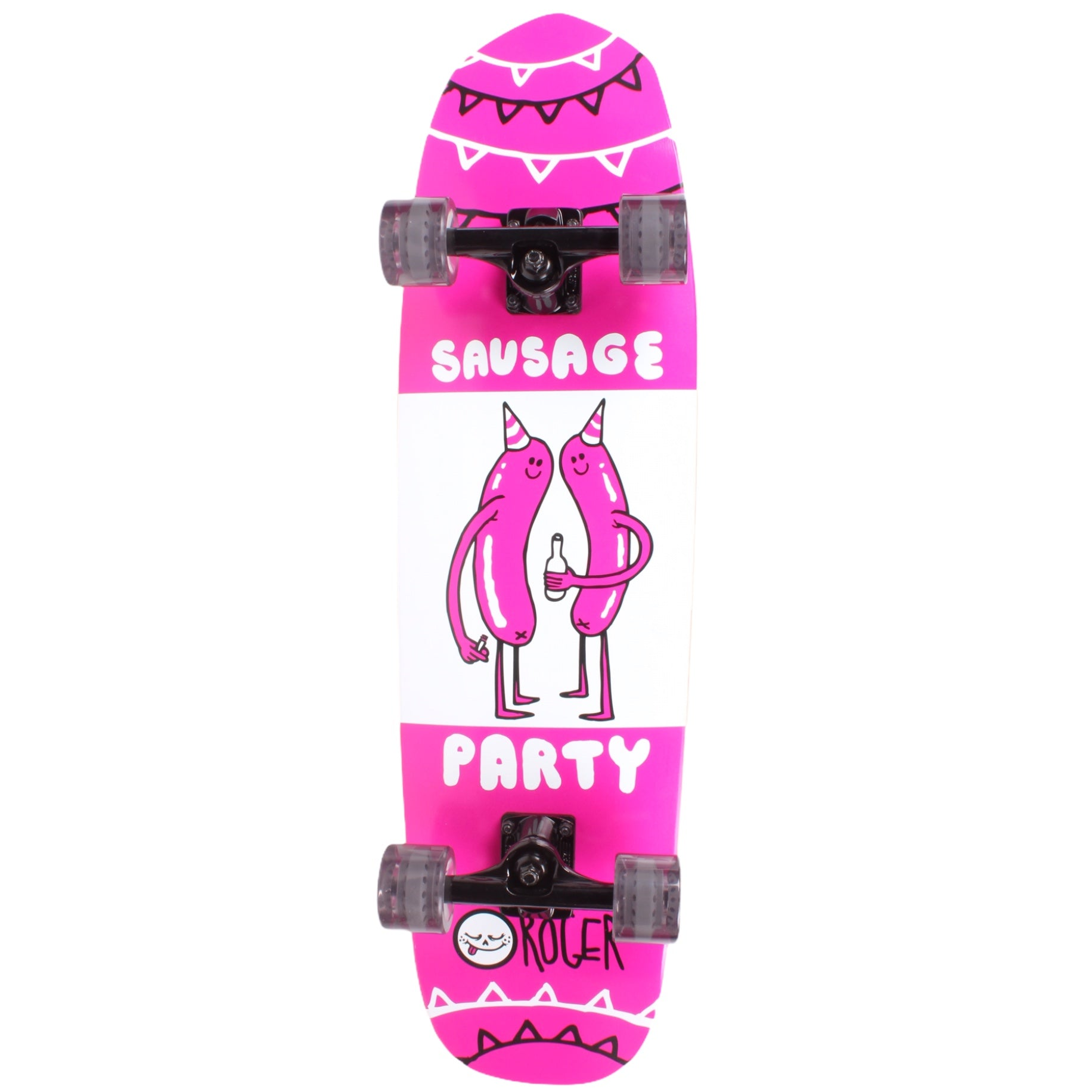 Roger Skate Co. Sausage Party 8.5 Shaped Cruiser Complete Skateboard