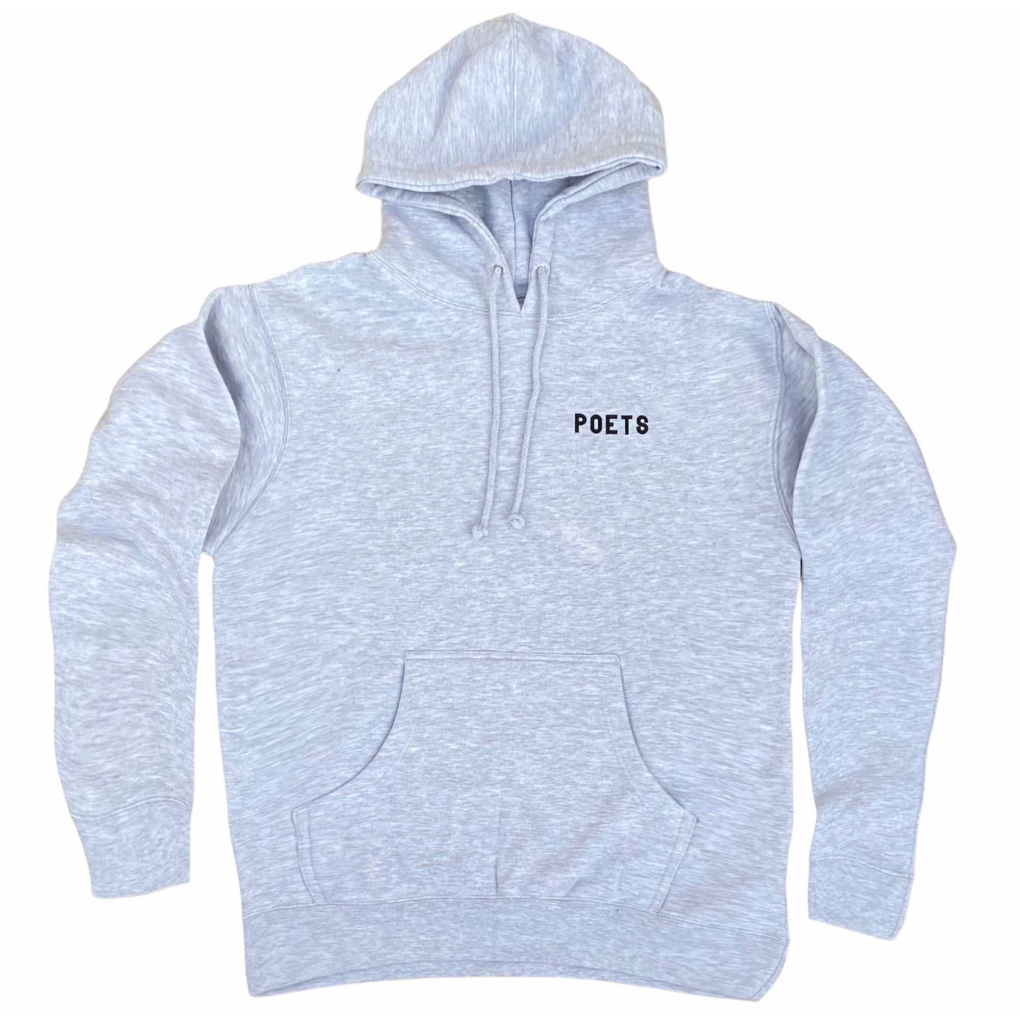 Poets Cuckoo Hooded Sweatshirt Heather Grey