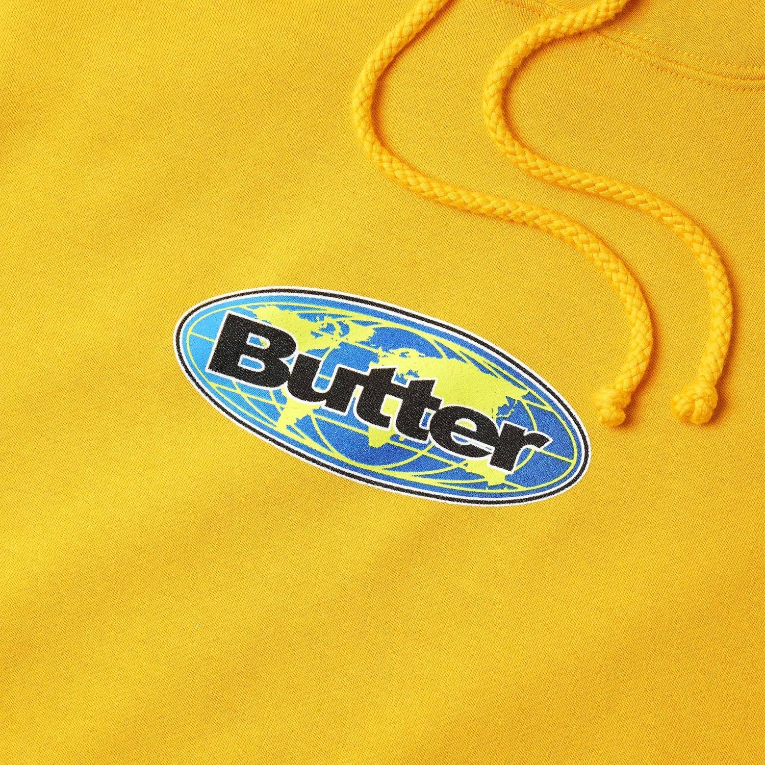 Butter Goods Global Logo Pullover Sweatshirt Gold