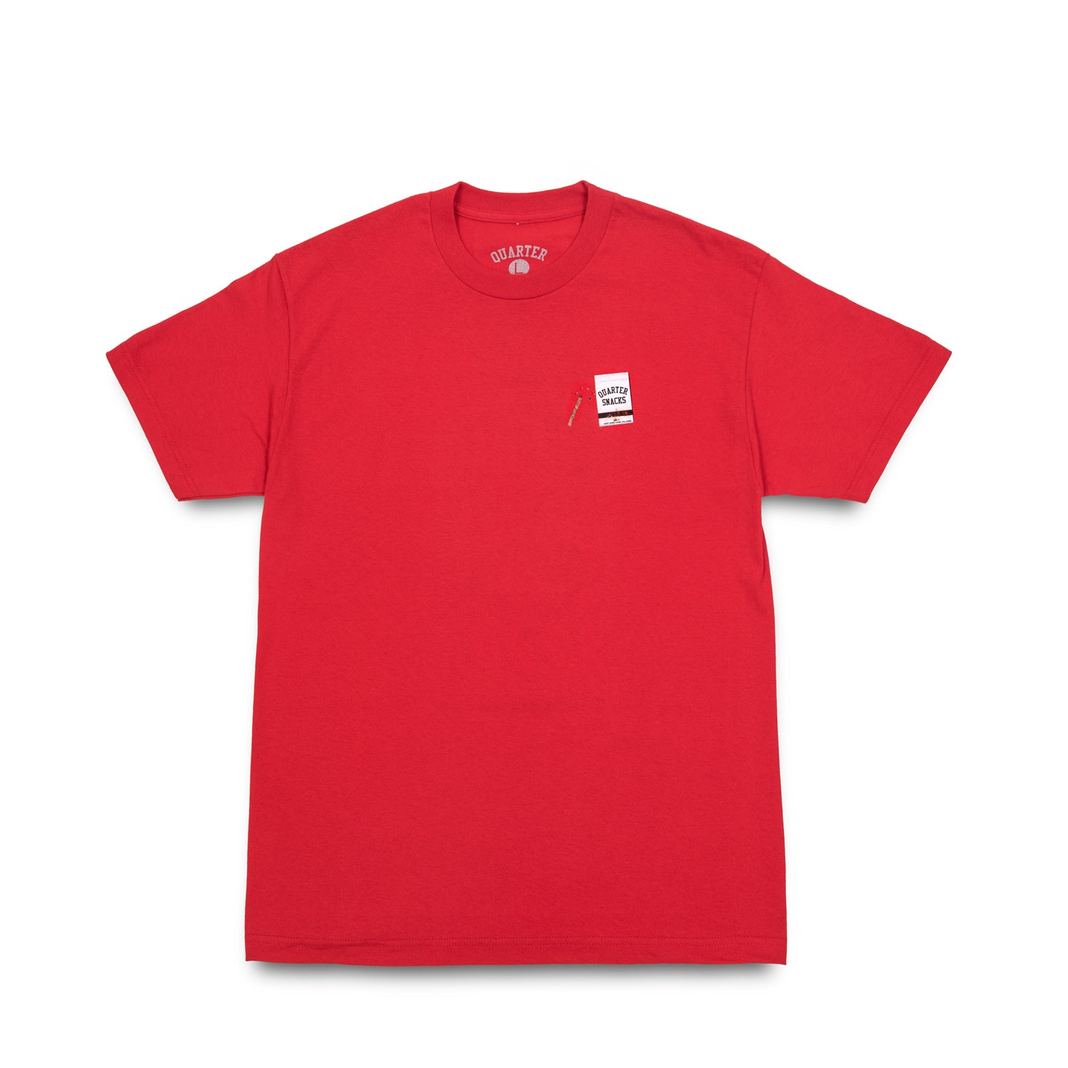 Quarter Snacks Smokers Warning Snackman Tee Red
