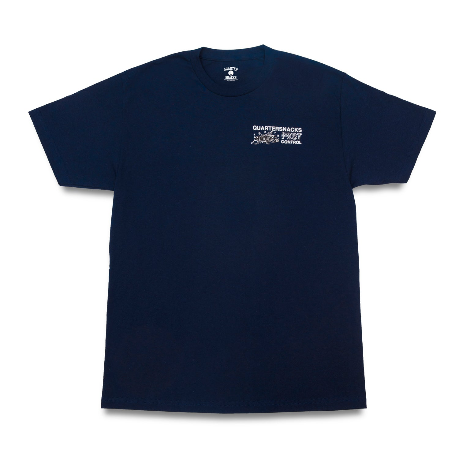 Quartersnacks Pest Control Tee Navy