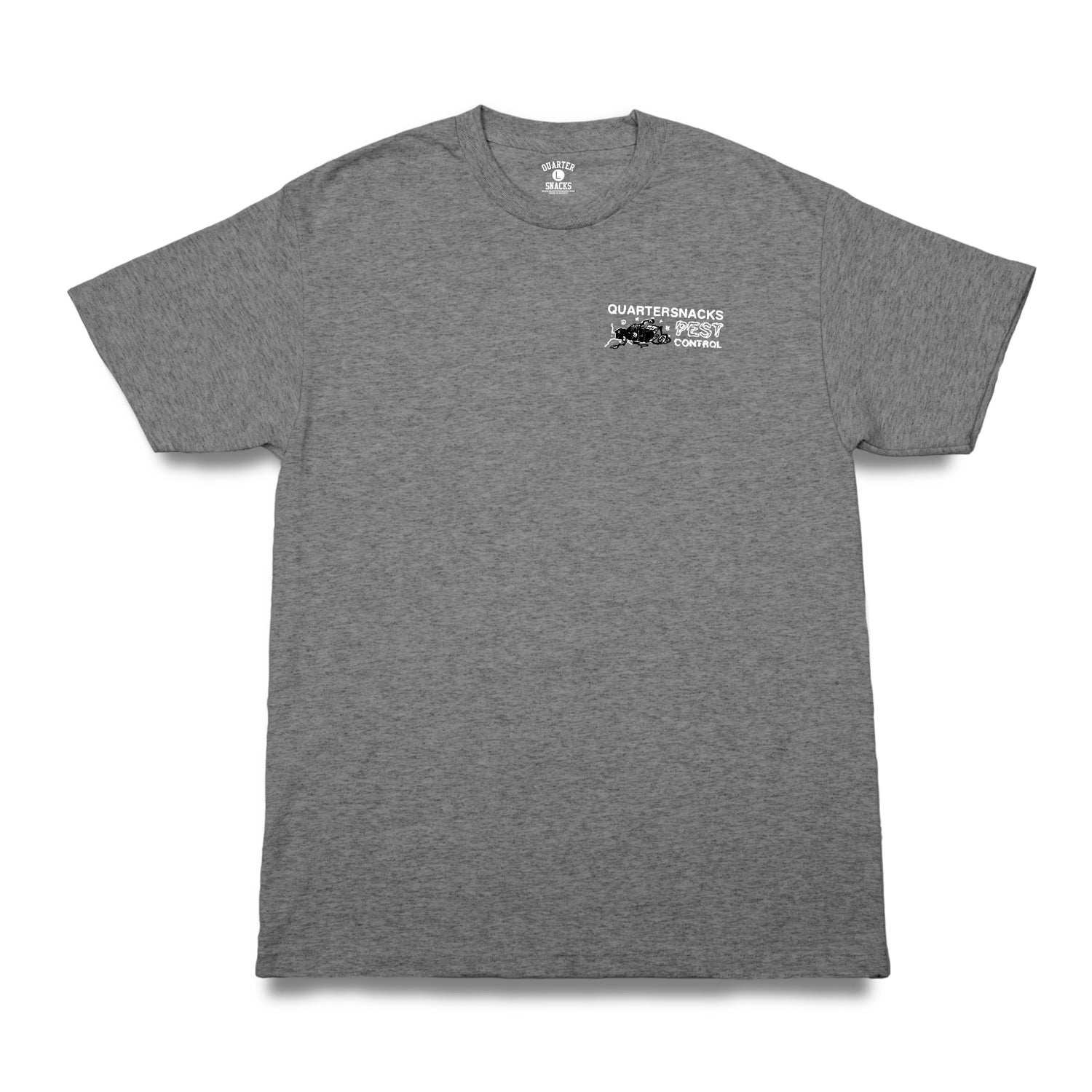 Quartersnacks Pest Control Tee Heather Grey