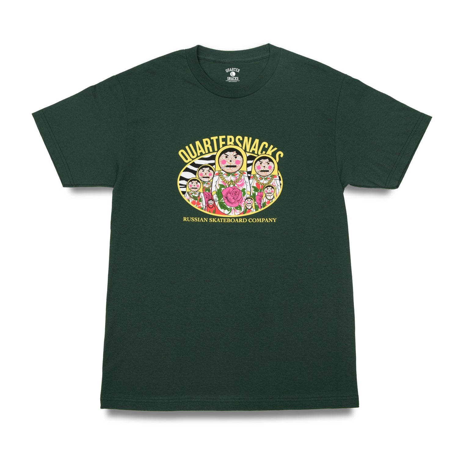 Quartersnacks Russian Doll Tee Forest Green