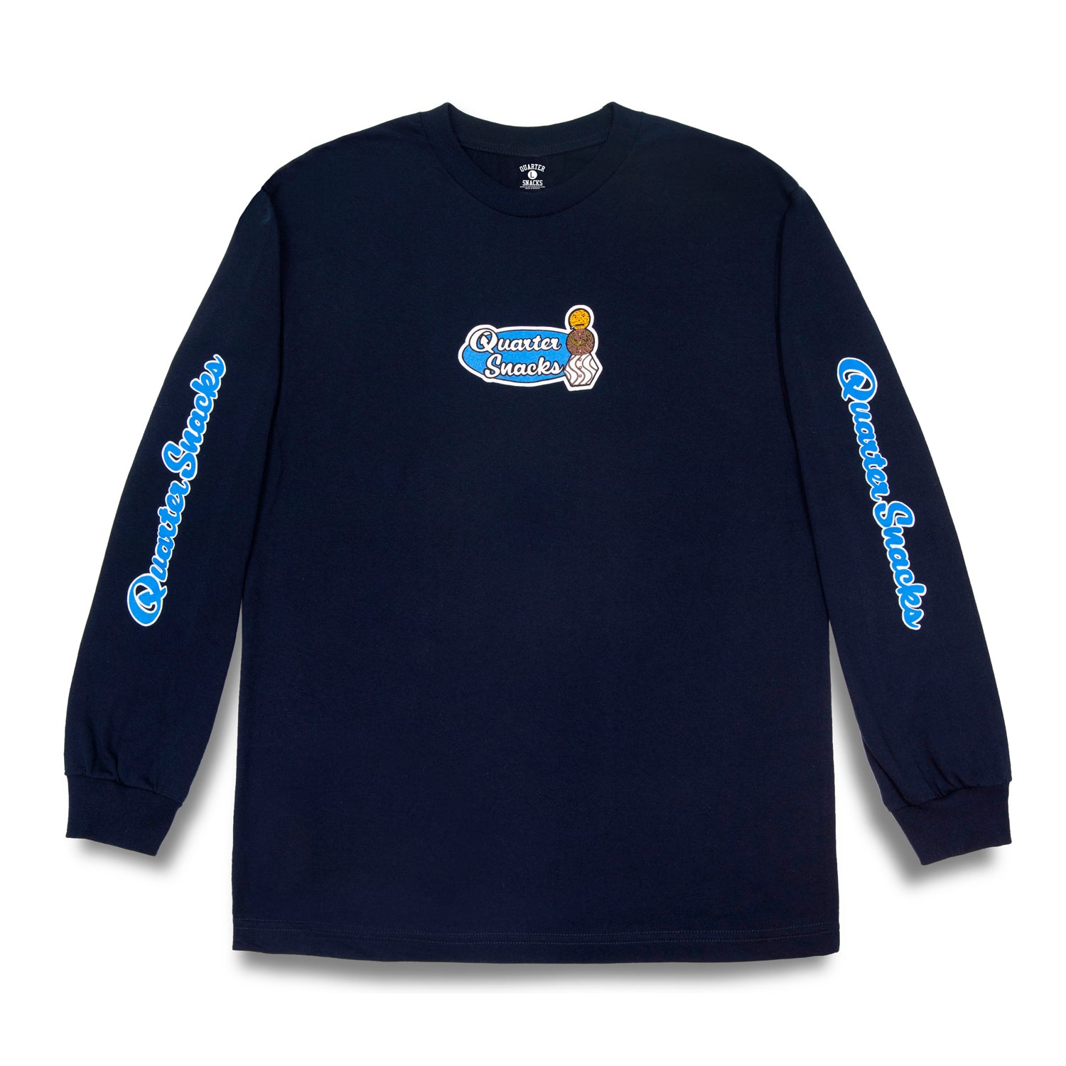 Quartersnacks Middle School L/S Tee Navy