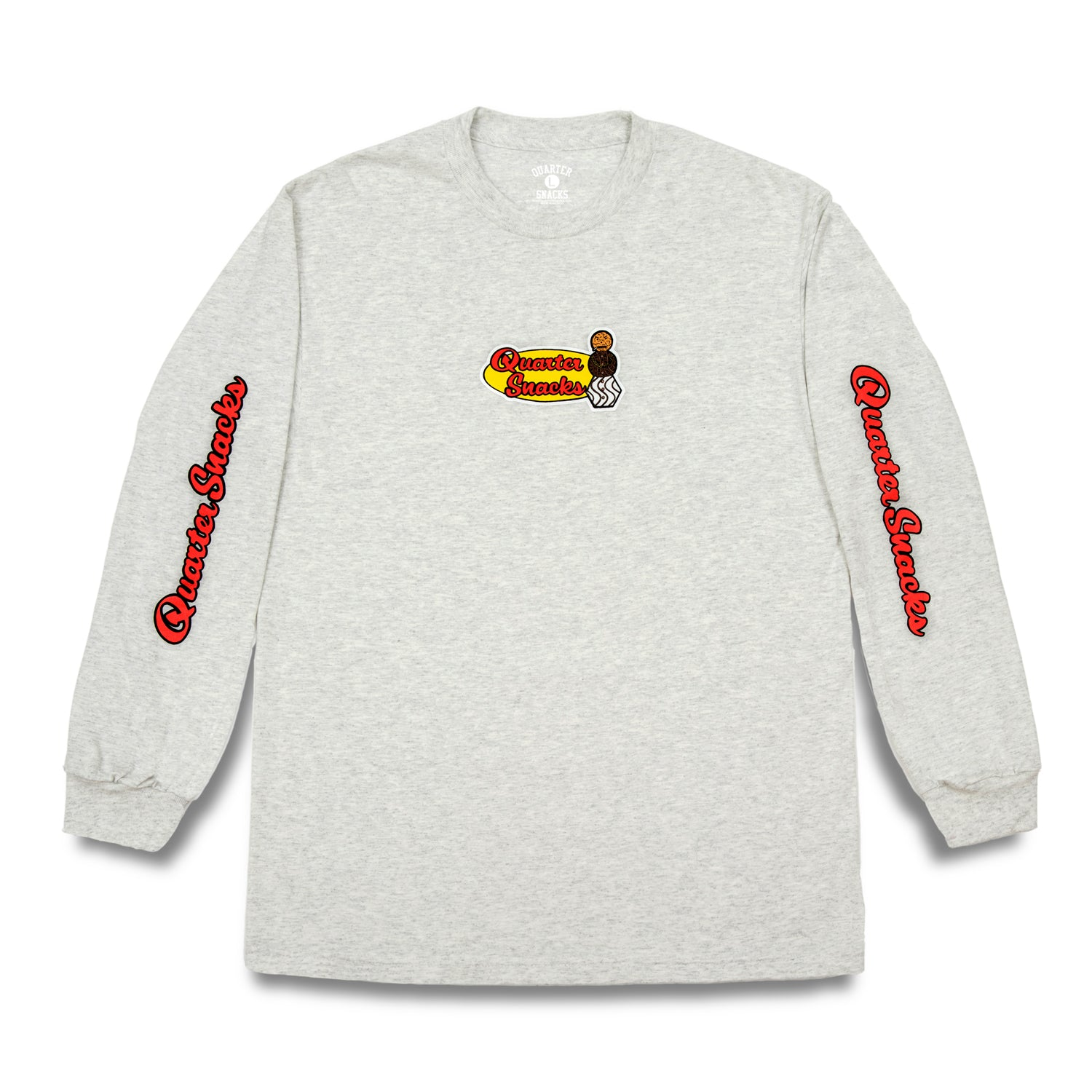 Quartersnacks Middle School L/S Tee Ash Grey