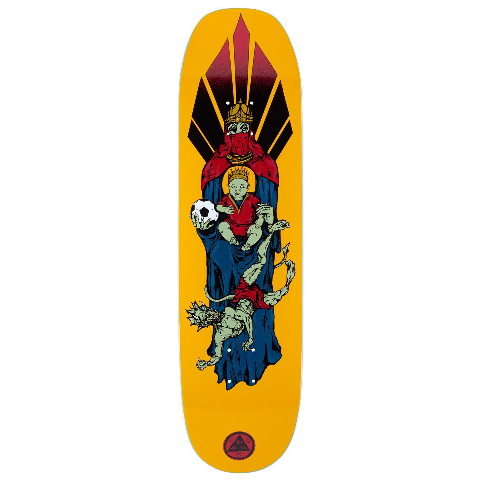 Welcome Futbol On Moontrimmer 2.0 Gold Deck 8.5""