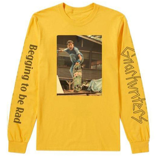 Gnarhunters Begging To Be Rad Frank Gerwer Long Sleeve Yellow