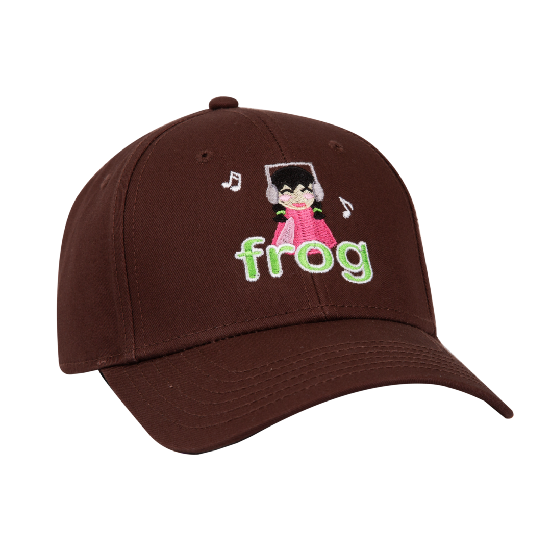 Frog I'm Not Listening 6 Panel Hat Brown