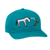 Frog Horse 5 Panel Hat Turquoise
