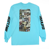 Fucking Awesome LS Tee Collage Lagoon Blue