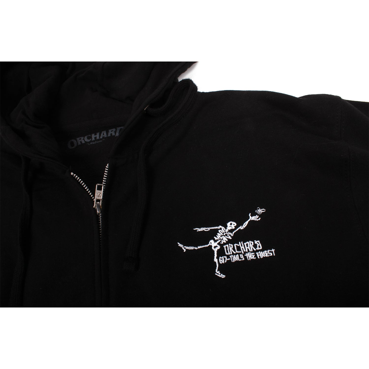 Orchard Gonz Only The Finest Zip Up Hooded Sweatshirt Black