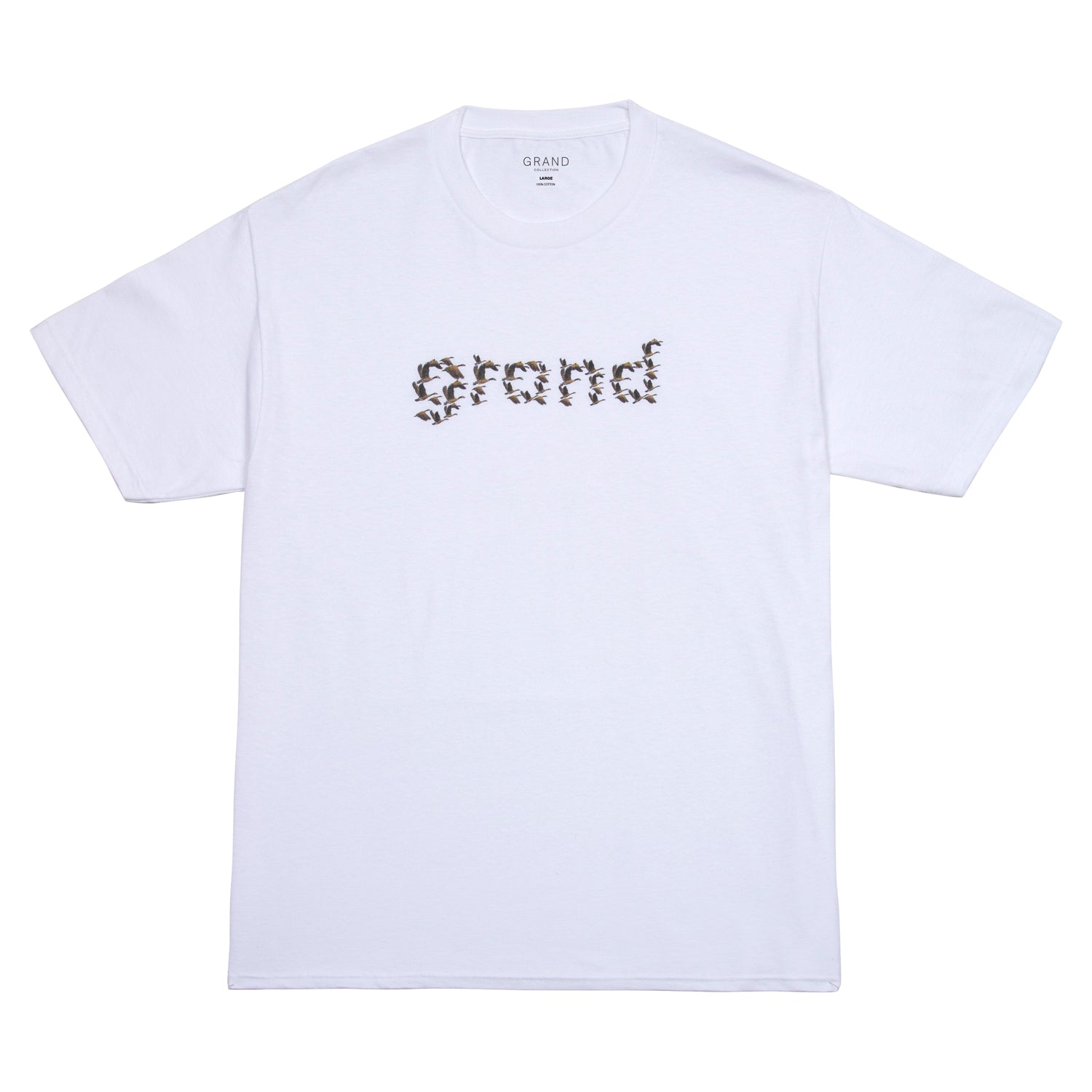 Grand Collection Flock Tee White