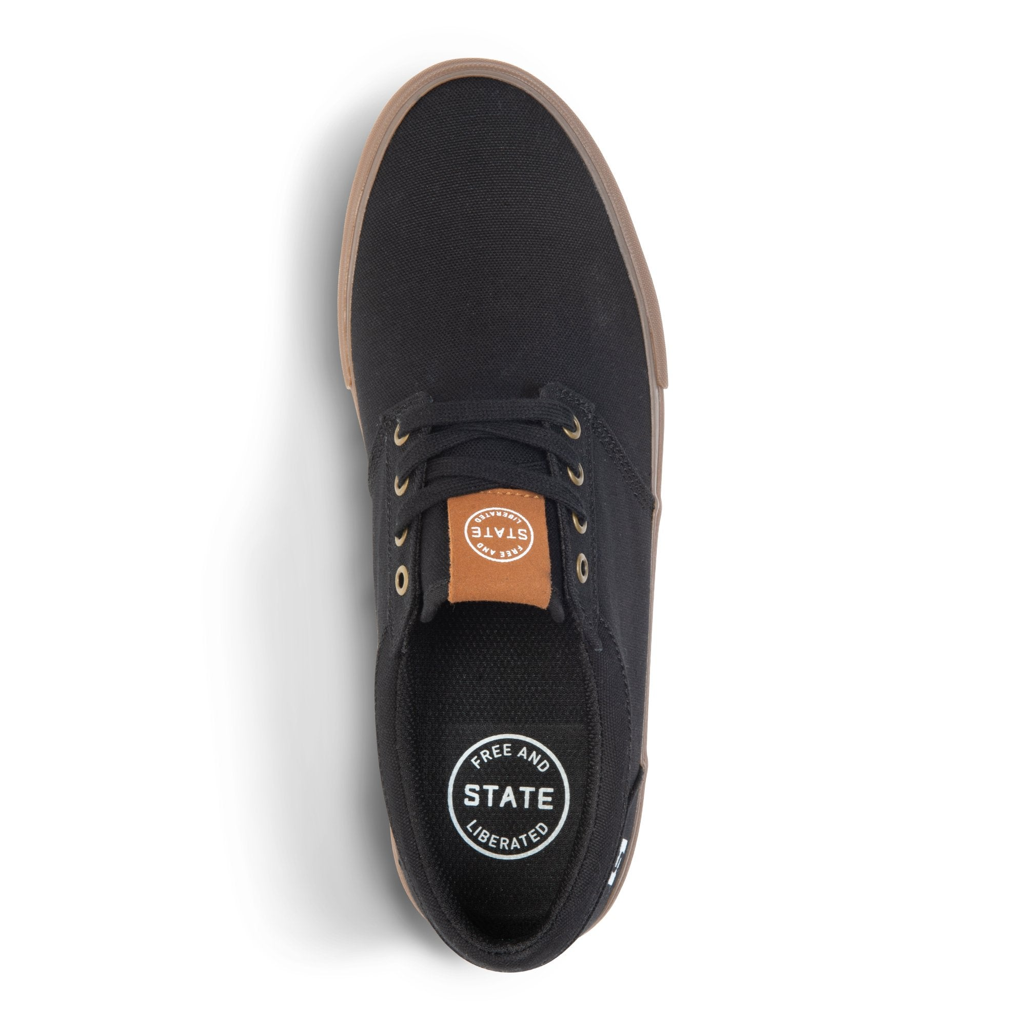 State Footwear Elgin Black/Gum Denim Vegan