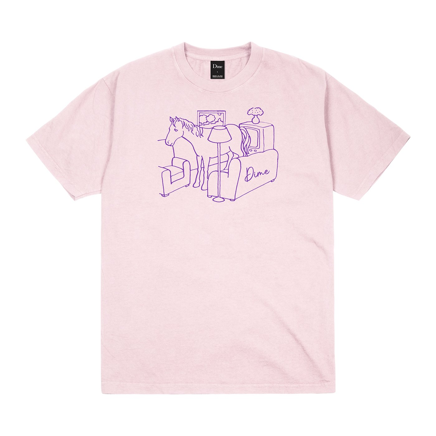 Dime Horse T-Shirt Light Pink