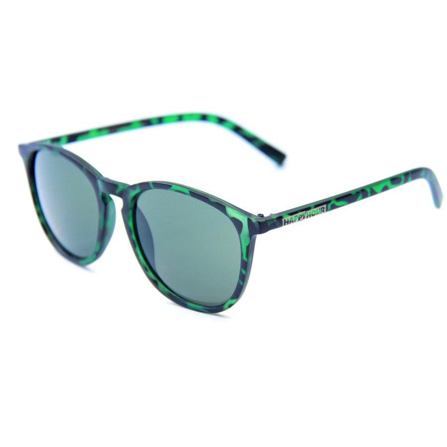 Happy Hour Flap Jack Sunglasses Matte Green Tortoise