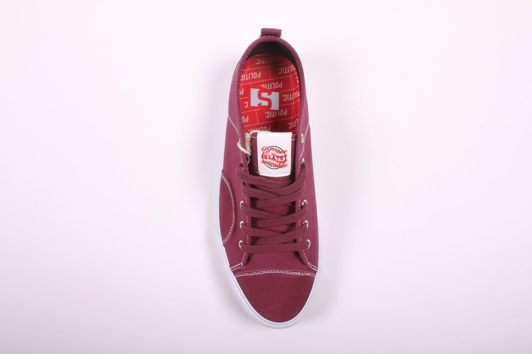 State Harlem x Politic Black Cherry Canvas/Suede