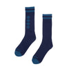 Independent Socks Chain Cross Crew Navy 9-11