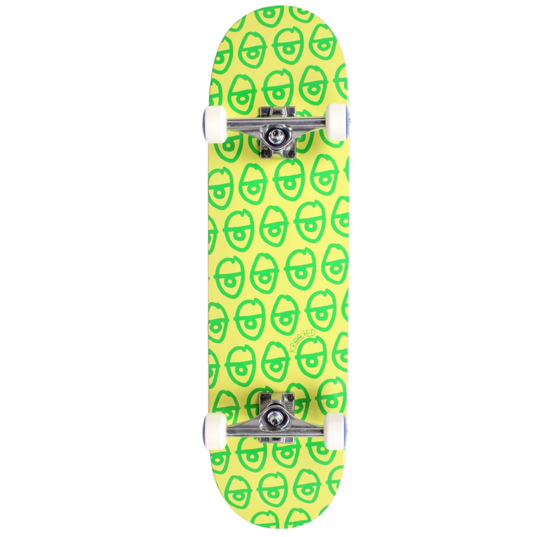 "Krooked Eyes PP Hybrid Skateboard Complete 8.5"" (With Free Skate Tool)"