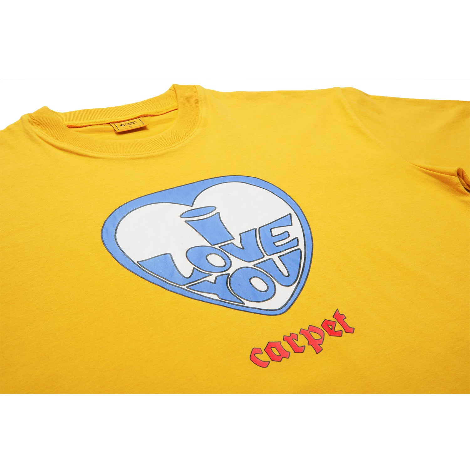 Carpet Company I Love You Tee Mustard