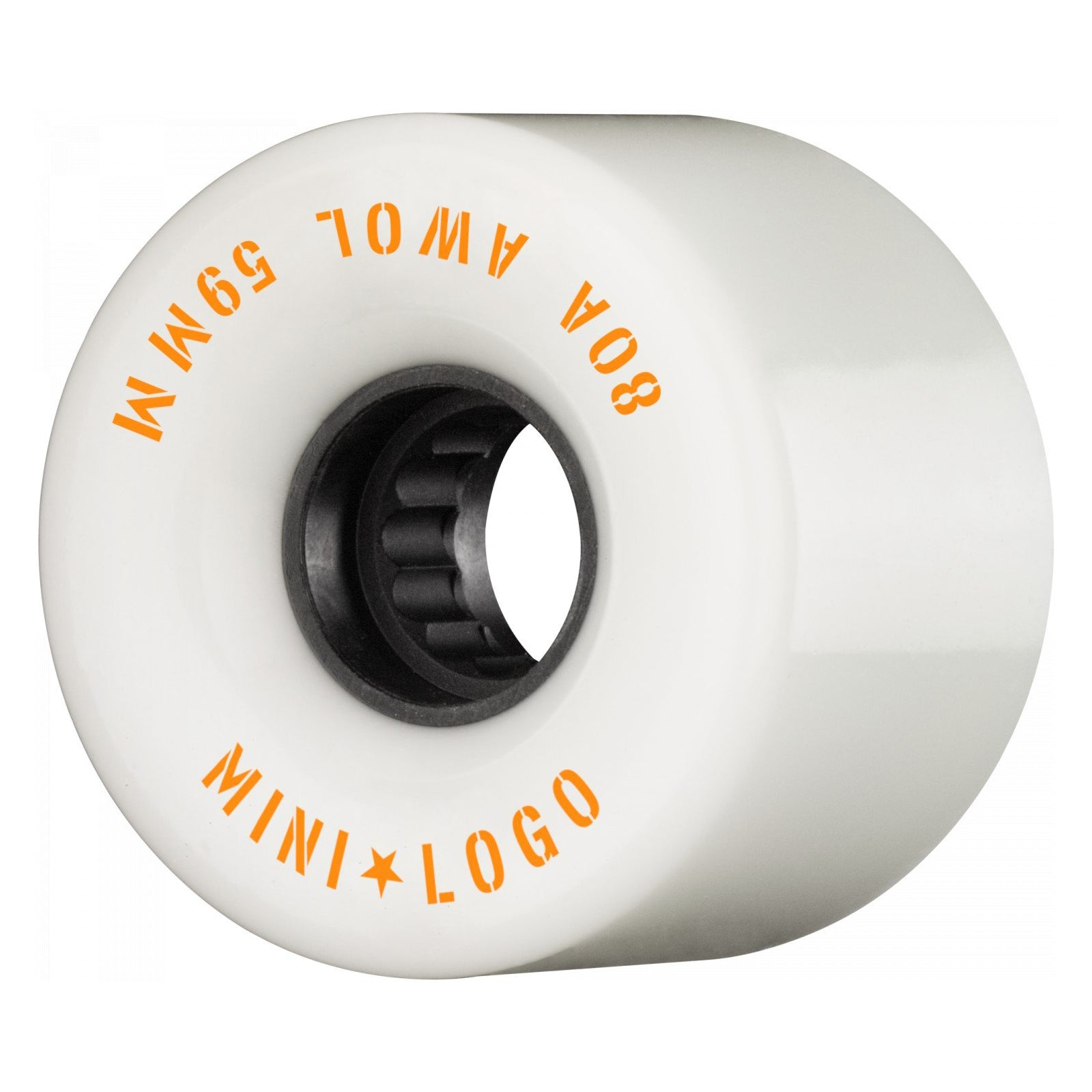 Mini Logo Wheels AWOL White 80a 59mm