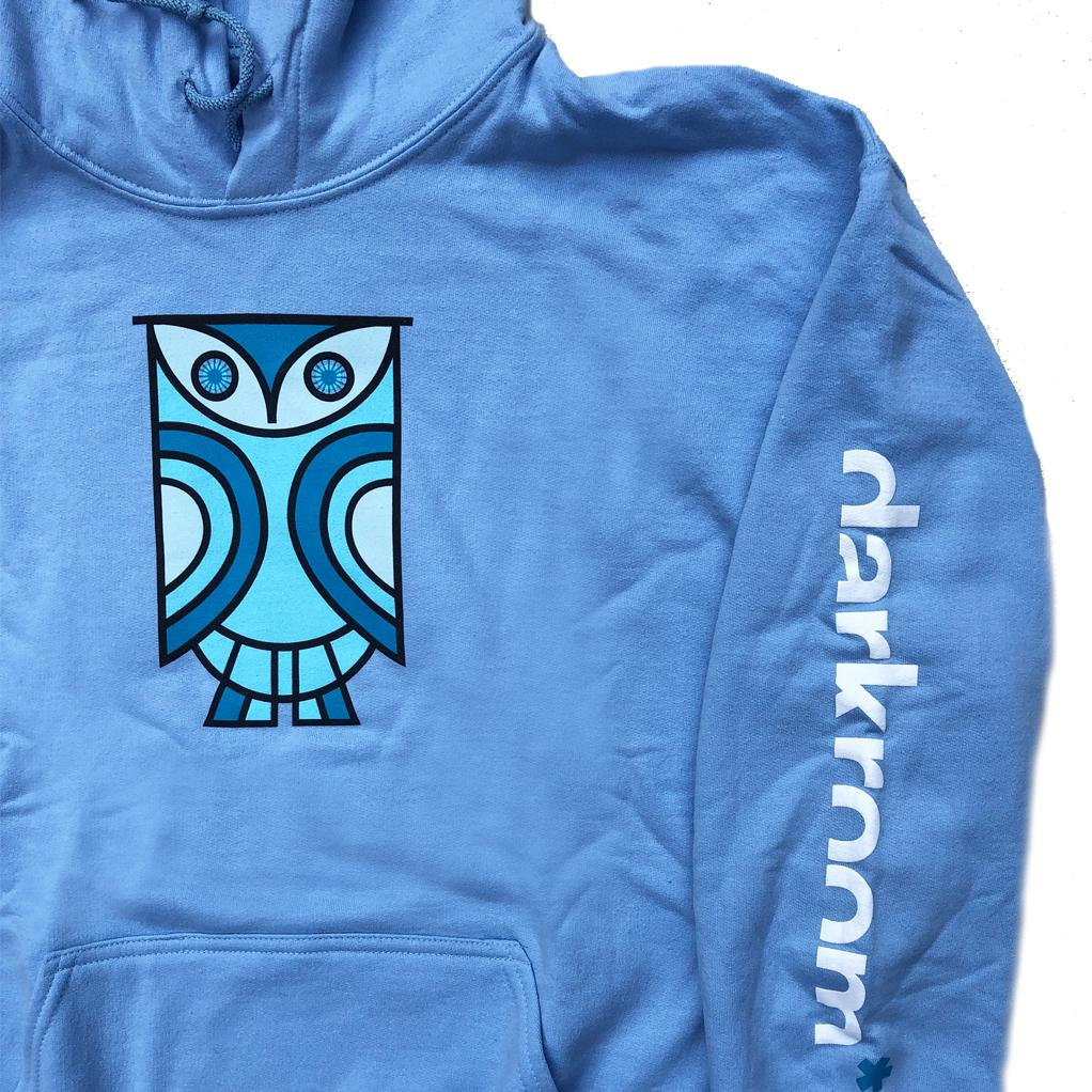 Darkroom N.A.D.O. Hooded Sweatshirt Light Blue