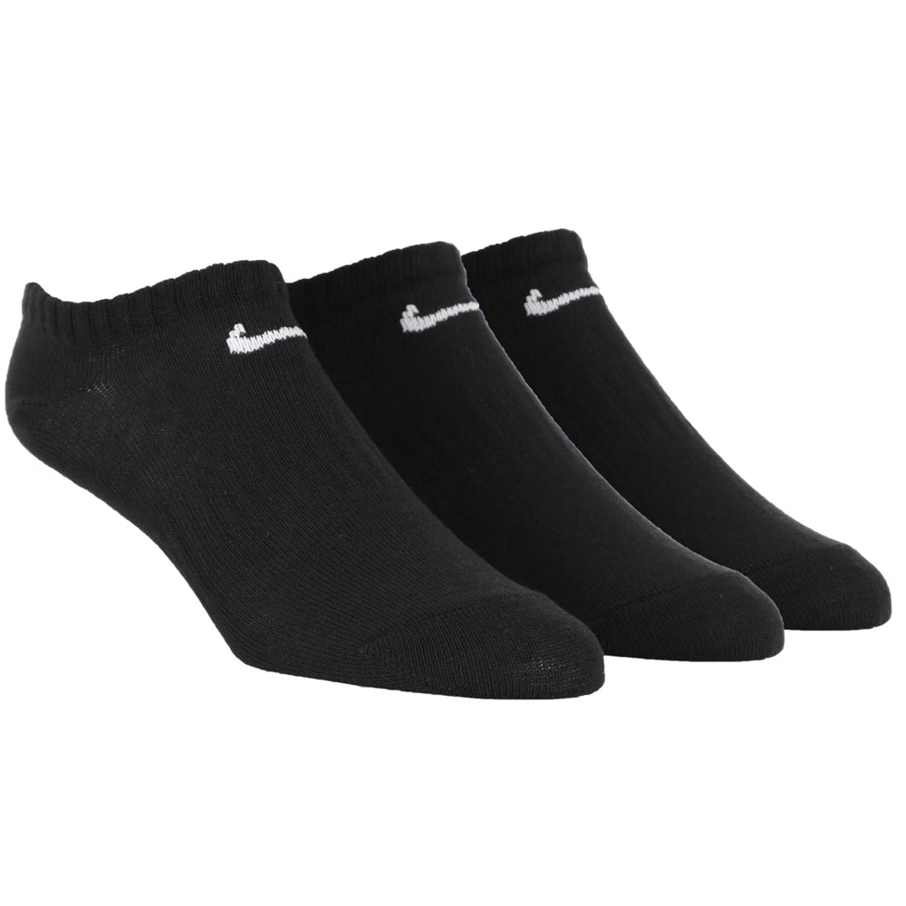 Nike SB Everyday Lightweight No Show Socks (3 Pack) Black