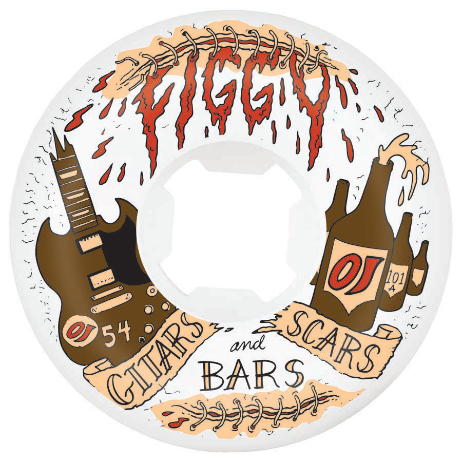 OJ Wheels Figgy Scars And Bars Original Hardline 101A 54mm