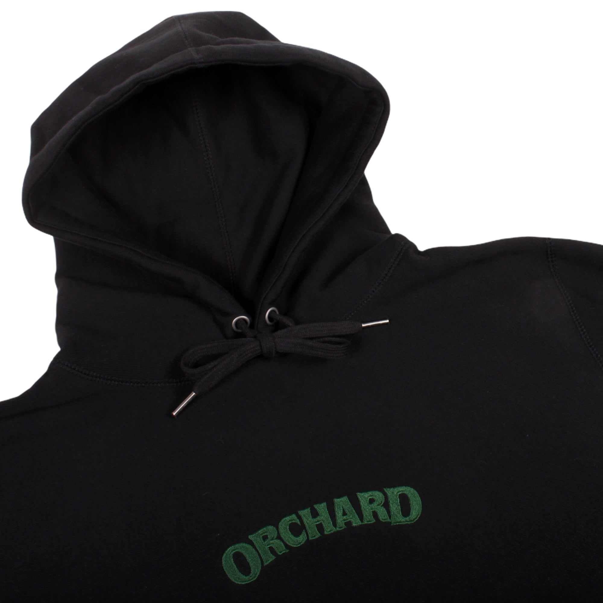 Orchard Cross Weave Text Logo Hoodie Black/Green