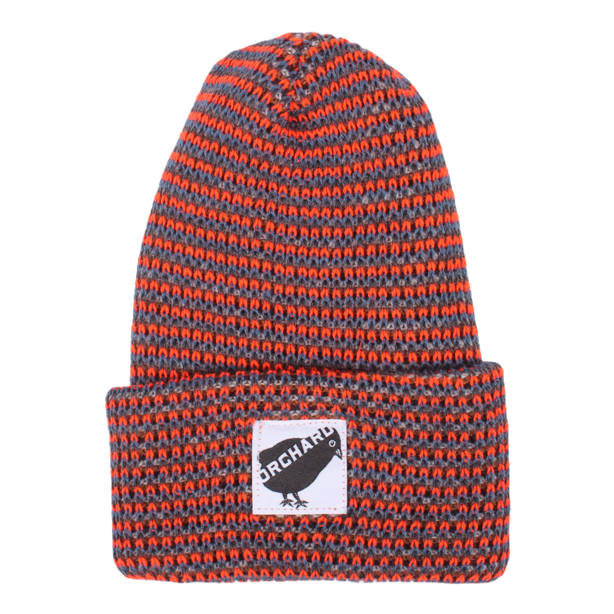 Orchard Black Bird Watch Beanie Orange/Blue/Grey