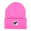 Orchard Black Bird Cuff Beanie Pink