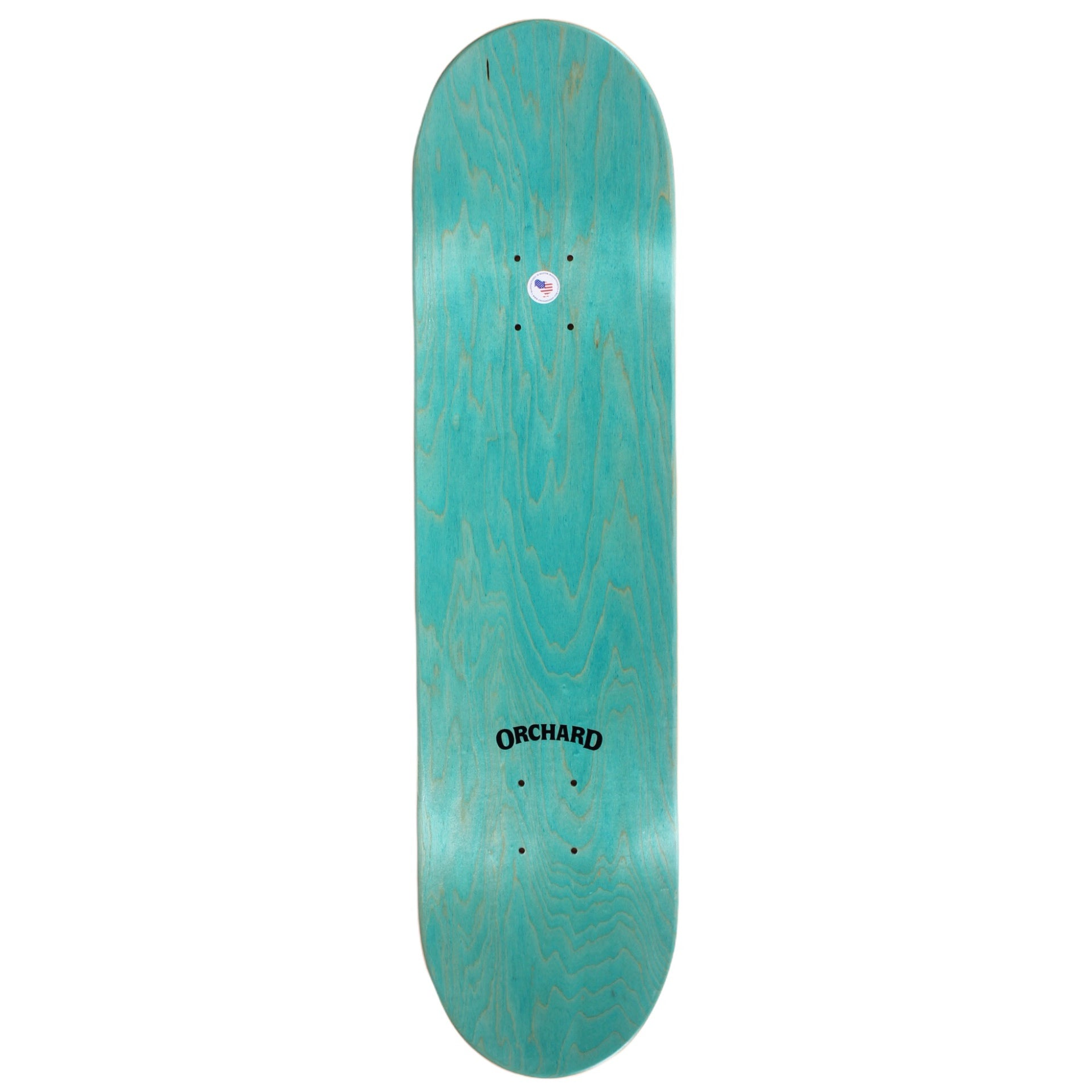 "Orchard Bird Logo Deck Green/White 8.5"" M2"
