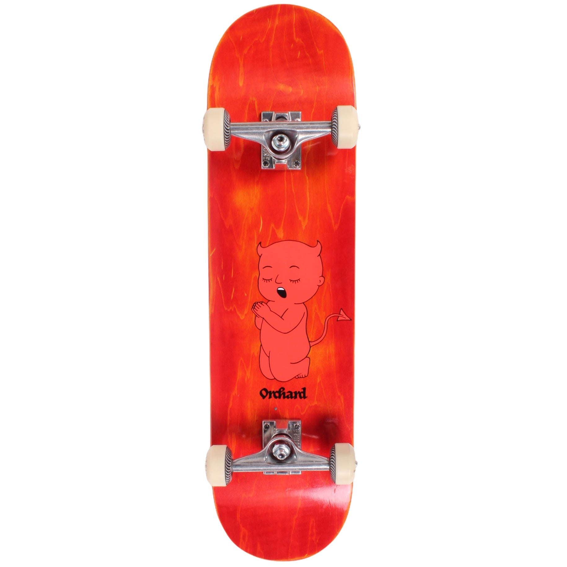 Orchard Complete Skateboard Thoughts & Prayers Red 8.0 SpitfireF4/Venture