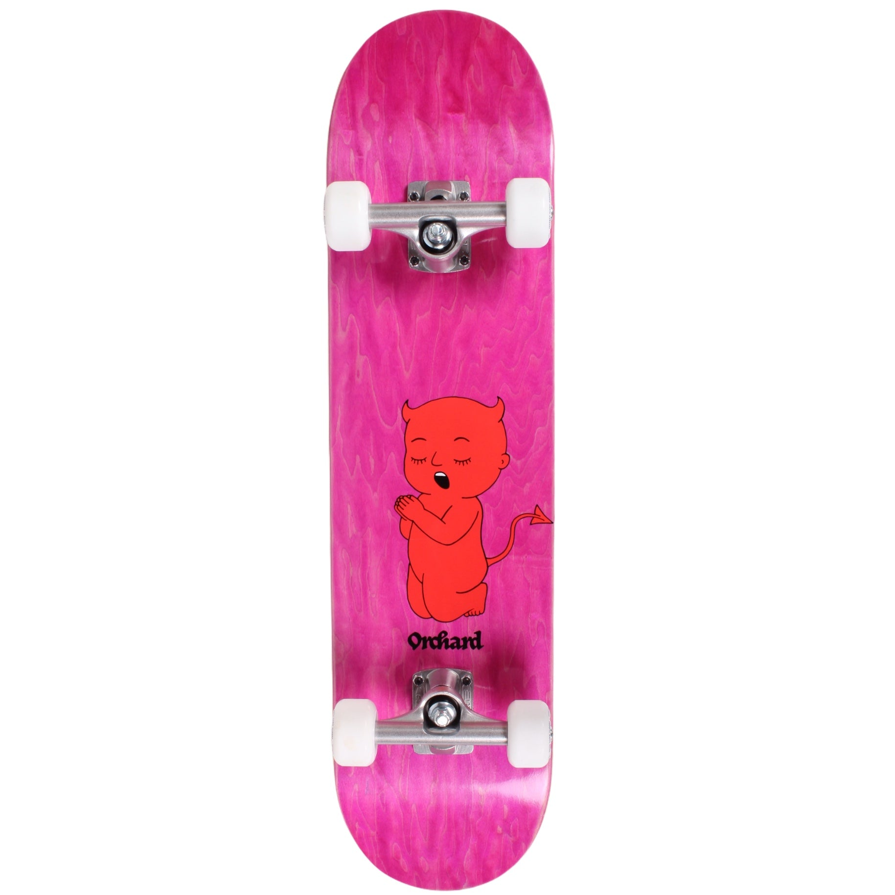 Orchard Hybrid Complete Skateboard Thoughts & Prayers Pink 7.6 Clouds/Bullet